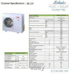 Ymgi 27000 Btu Tri Zone 21 Seer Ductless Mini Split Air Conditioner Pompe À Chaleur
