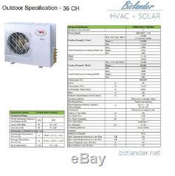 Ymgi 36000 Btu 3 Ton Ductless Mini Climatiseur Split Refroidissement Système De Chauffage
