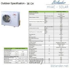 Ymgi 36000 Btu 3 Tri Zone Ductless Mini Split Air Conditionneur Pompe À Chaleur 21