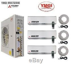 Ymgi 48000 Btu 21 Seer Tri Zone Ductless Mini Split Climatiseur Pompe A Chaleur