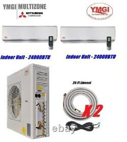 Ymgi 48000 Btu Two Zone Ductless Mini Split Air Conditioner With Heat Pump Feb