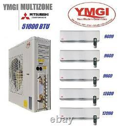 Ymgi 51000 Btu Cinq Zone Plafond Sans Conduit Mini Climatiseur Fendu Avec Pompeheat