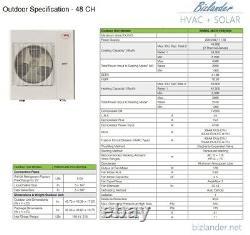 Ymgi 54000 Btu Trois Zones Sans Conduit Mini Split Air Conditioner Pompe À Chaleur