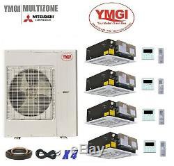 Ymgi Four Zone Ductless Mini Split Climatiseur Pompe À Chaleur 4x12kec