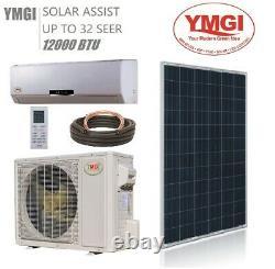 Ymgi Mini Split Climatiseur Solaire 12000 Btu Jusqu'à 32 Seer