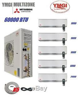 Ymgi Zone 5 Btu 60000 Ductless Mini Split Climatiseur Avec Pompe À Chaleur