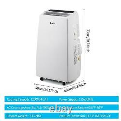Zokop 12000btu Climatiseur 3-en-1 Ventilateur De Déshumidificateur Portatif Unité Ac 3 Vitesses