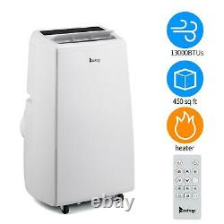 Zokop 13000btu Climatiseur 4-en-1 Déshumidificateur Portable Ventilateur Chauffage Ac