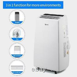 Zokop 13 000btu Climatiseur 4-en-1 Ventilateur De Déshumidificateur Portable Chauffage Ac