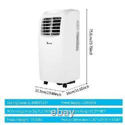 Zokop 8000btu Air Conditioner Déshumidificateur Fonction Ventilateur Portable Avec Remote 3-en-1